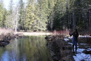 Weekly water monitoring in during spring run-off. Bi-weekly during summer months. photo credit - Duhamel Watershed Society